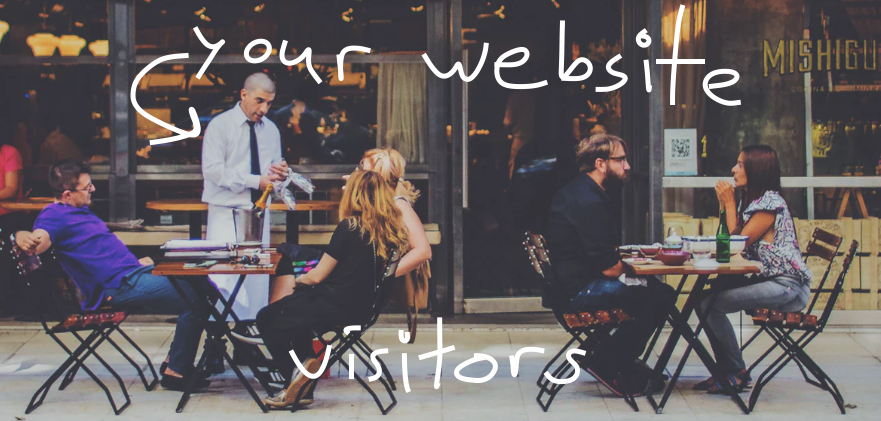 comparison of website visitors and restauranteurs